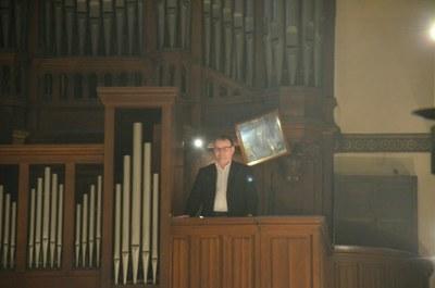 Départ d'Emmanuel Pottier, Organiste titulaire