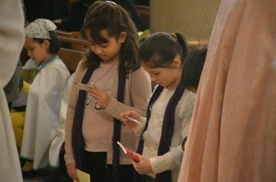 Appel décisif des enfants du primaire du catéchuménat jeune