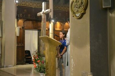 Messe des familles avec l'entrée en catéchuménat