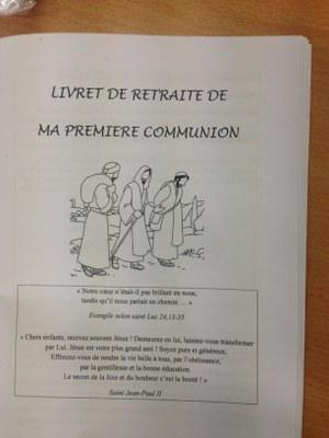 Retraite de préparation au baptême et à la première communion