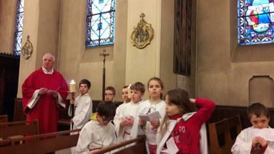 Chemin de Croix avec les enfants du catéchisme