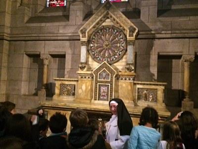 Sortie des CM1 du catéchisme au Sacré Coeur