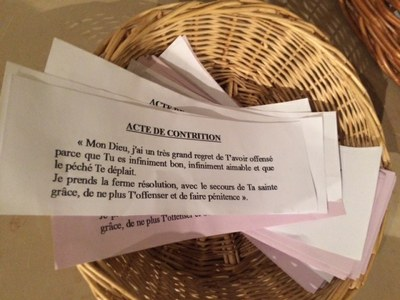 Temps de confession cette semaine au catéchisme