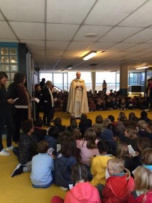 Bénédiction de la cour de l'école de l'Immaculée Conception