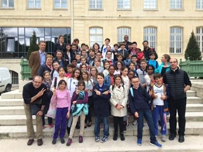 Pèlerinage avec les CM2 de l'école de l'Immaculée Conception