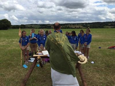 Messe avec les guides à Tremel en Bretagne