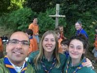 Messe avec les Louveteaux à Serent en Bretagne