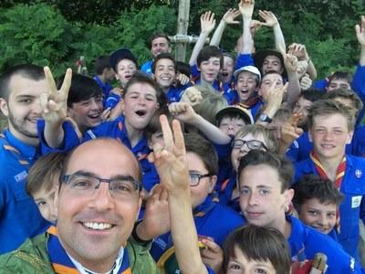 Messe avec les scouts à Serent en Bretagne