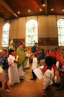 Messe du groupe scout Saint Philiippe Neri