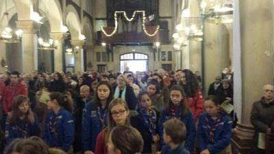 Messe des familles et rétrospective du groupe scout