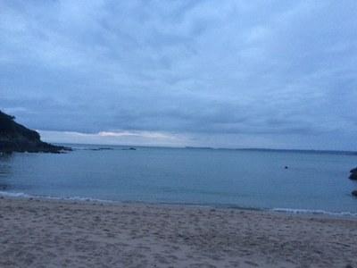 Promesses des guides sur la plage de Tremel en Bretagne