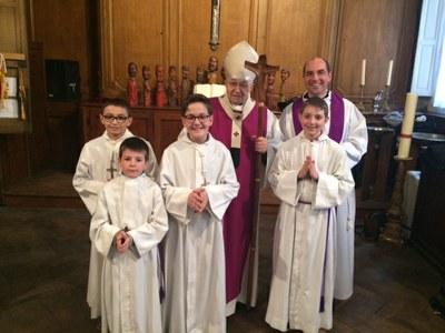 Servants de l'Immaculée Conception venus aider le Cardinal Vingt-Trois