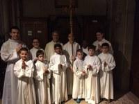 2016 04 02 servants au pèlerinage à Notre Dame