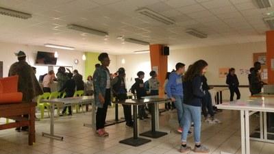 1er jour du camp de l'aumônerie à Saint Laurent sur Sèvres en Vendée