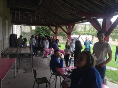 1er jour du camp de l'aumônerie à Douvres la Délivrande