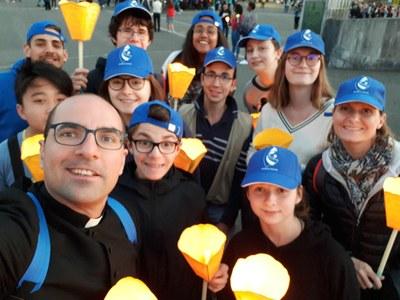 2ème jour du FRAT à Lourdes