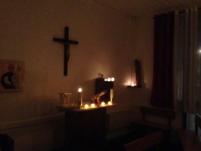 Messe des cendres à l'aumônerie Vacourdy